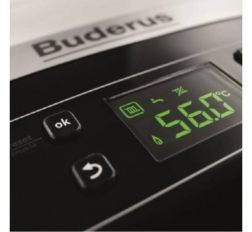 BUDERUS LOGAMAX PLUS GB062-24KD H V2 Λέβητας Αερίου Συμπύκνωσης + Καμινάδα + ΜΑΓΝΗΤΙΚΟ ΦΙΛΤΡΟ